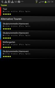 Komoot-Screenshot
