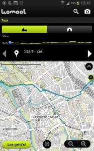 Komoot-Navigation